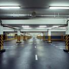 Подземный паркинг. Материал пола - маслобензостойкий ровнитель для долговечных износостойких абразивостойких непылящих полов АЛЬФАПОЛ МБ.