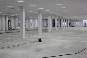 Перед укладкой самовыравнивающегося пола в новом комплексе аэропорта «Пулково»