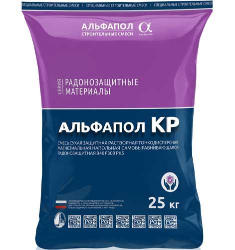 Наливной ровнитель радонозащитный АЛЬФАПОЛ КР в упаковке, 25 кг