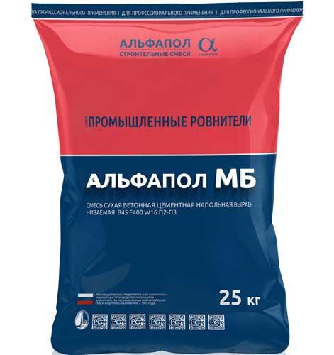 Промышленный пол непылящий маслобензостойкий АЛЬФАПОЛ МБ в упаковке, 25 кг