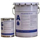 Комплект банок АЛЬФАПОЛ ПУ-3Т - глянцевый полиуретановой лак для минеральных и полимерных полов
