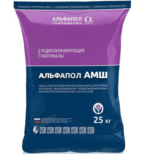 Ровнитель защитный радиоэкранирующий антистатический АЛЬФАПОЛ АМШ в упаковке, 25 кг