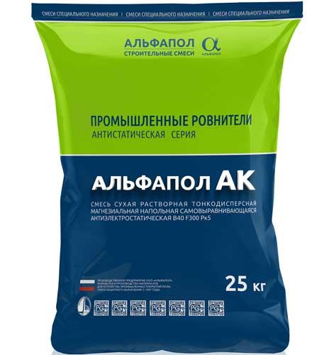 Антистатический наливной промышленный пол АЛЬФАПОЛ АК в упаковке 25 кг