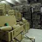 Промышленный безыскровый маслобензостойкий бетонный пол на складе боеприпасов и ГСМ