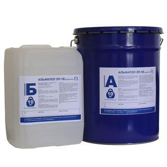 Эпоксидная двухкомпонентная водоэмульгированная смола для улучшения адгезионных характеристик влажного основания под окрасочное покрытие АЛЬФАПОЛ ЭП-3В, а также в качестве самостоятельного покрытия по свежеуложенному основанию.