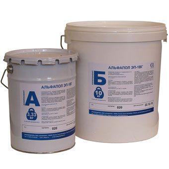 Эпоксидная двухкомпонентная водоэмульгированная смола для улучшения адгезионных характеристик влажного основания под окрасочное покрытие АЛЬФАПОЛ ЭП-3В, а также в качестве самостоятельного покрытия по свежеуложенному основанию