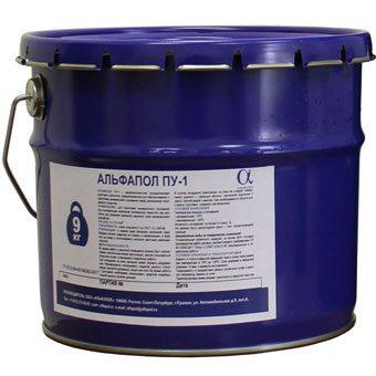 Банка АЛЬФАПОЛ ПУ-1: однокомпонентная полиуретановая грунтовка-пропитка для бетонных оснований