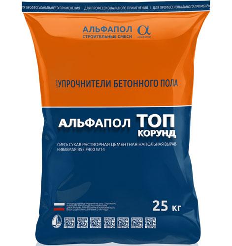 АЛЬФАПОЛ ТОП Корунд топпинг для бетонного пола в упаковке 25 кг