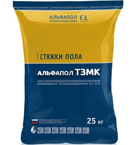 АЛЬФАПОЛ ТЗМК ровнитель безусадочный теплоизоляционный B15 в упаковке, 25 кг