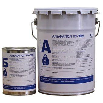 АЛЬФАПОЛ ПУ-3ВМ полиуретановый двухкомпонентный водоэмульгированный матовый лак в таре