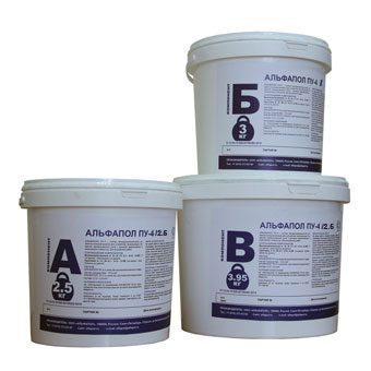Полиуретан-цементный пол АЛЬФАПОЛ ПУ-4 С в таре