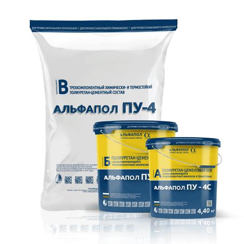 Полиуретан-цементный пол АЛЬФАПОЛ ПУ-4С в таре