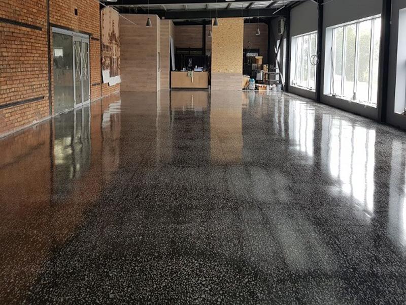 Шлифованный бетон пол дорожное покрытие из фибробетона