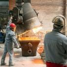 Жаростойкий промышленный бетонный пол АЛЬФАПОЛ ВR P в сталелитейном цеху