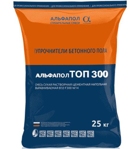 Жидкий корундовый топпинг для бетонного пола АЛЬФАПОЛ ТОП 300 в упаковке, 25 кг