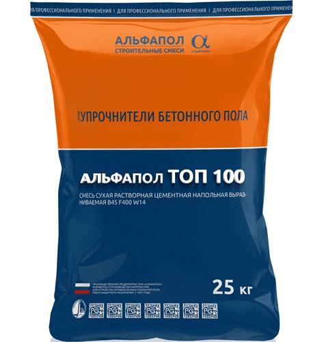 Топпинг АЛЬФАПОЛ ТОП 100 в упаковке 25 кг - упрочнитель для бетонного пола